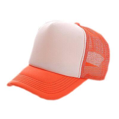 New Vintage Plain Trucker Mesh Hat Snapback Blank Baseball Cap Adjustable Size