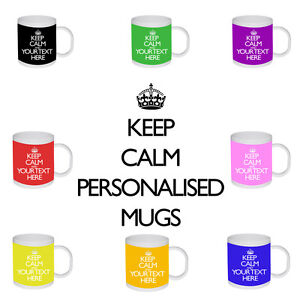 New-Keep-Calm-And-Carry-On-Personalised-Text-Name-Colours-Birthday-Gift-Mug-Cup