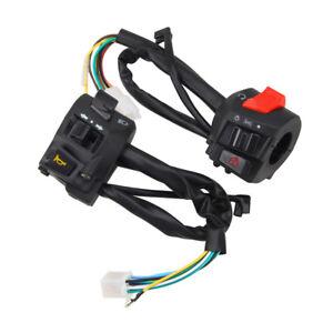 22mm-Motorrad-Lenker-Schalter-Set-Hupe-Blinker-Zuend-Startschalter-2x-Universal