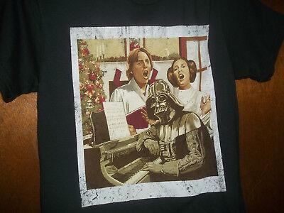 Star Wars Family Christmas Carol Luke Leia Darth Vader T Shirt Nwt Small Ebay