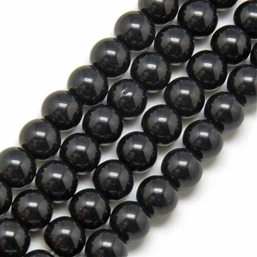 Fädelloch 0,5 mm Différentes Couleurs 4 Mm Perles De Verre Rond 80st
