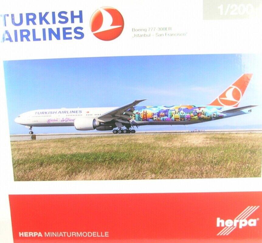 Boeing 777-300er Turkish Airline - Istanbul-San Francisco ( Reg. Tc-Jju