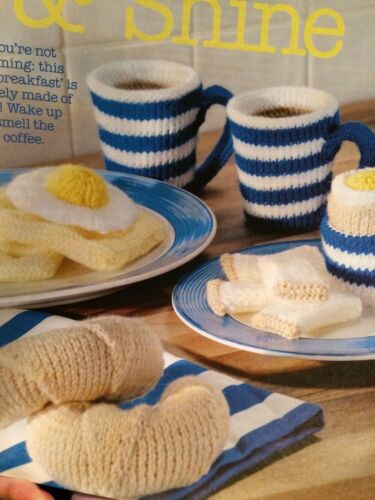 Croissant,Fried Egg Waffle Knitting Pattern Breakfast Boiled Egg /& Soldiers