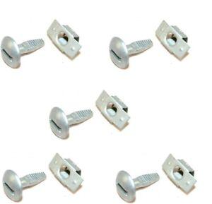 5-Clips-5-Vis-de-Fixation-Protection-Cache-Plaque-sous-Moteur-Peugeot-206-207