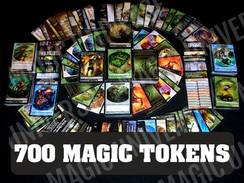 The Gathering Cards Collection 700 MTG Tokens Lot Magic