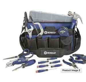 kobalt 22 piece household tool set with soft case ebay. Black Bedroom Furniture Sets. Home Design Ideas
