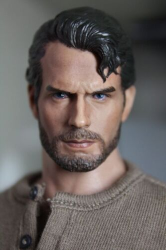 1//6 Henry Cavill Superman Head Sculpt Clark Kent 3.0 pour Hot Toys figure masculine