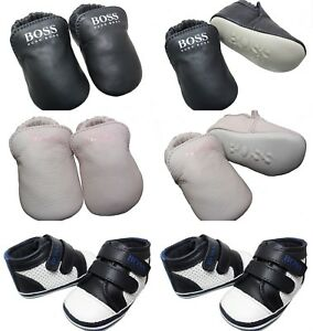Hugo Boss Leather Trainers Booties Baby