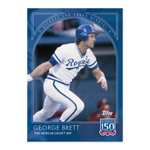 Details About 2019 Topps 150 Years Of Baseball 10 George Brett Kansas City Royals