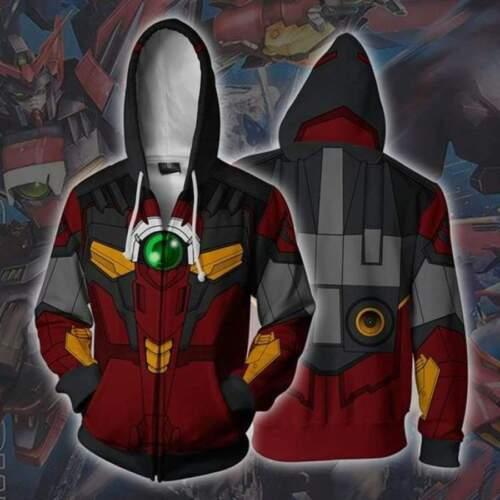 Anime GUNDAM Cosplay Unisex Hoodies Sweater Coat Jackets full color S-5XL