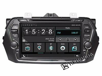 HD Car DVD GPS Player 3G Navi Radio Headunit For Suzuki Ciaz Alivio Free camera