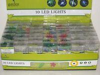 Led Lights 10 Led Garden Lights Strand B/o Dragonflies, Butterflies, Flowers Etc