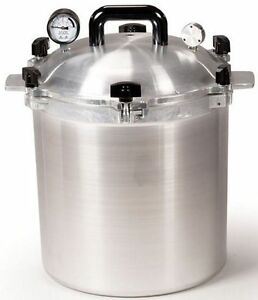 All-American-925-25-Qt-Heavy-Cast-Aluminum-Pressure-Cooker-Canner-NEW