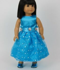 "Dazzling Teal Party Gown Fits American Girl Dolls 18"" Doll Clothes"
