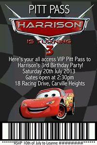Image Is Loading Lightning McQueen Birthday Invitation Custom Boys Party Invite