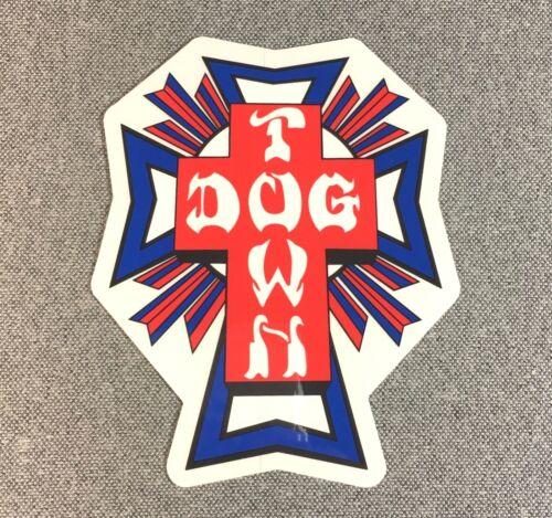 Dogtown Flag Cross Skateboard Sticker 4.2 in x 3.5 in si