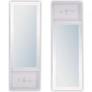 Wandspiegel landhaus design holz spiegel barock wei impress 180x60cm ebay - Landhaus wandspiegel ...