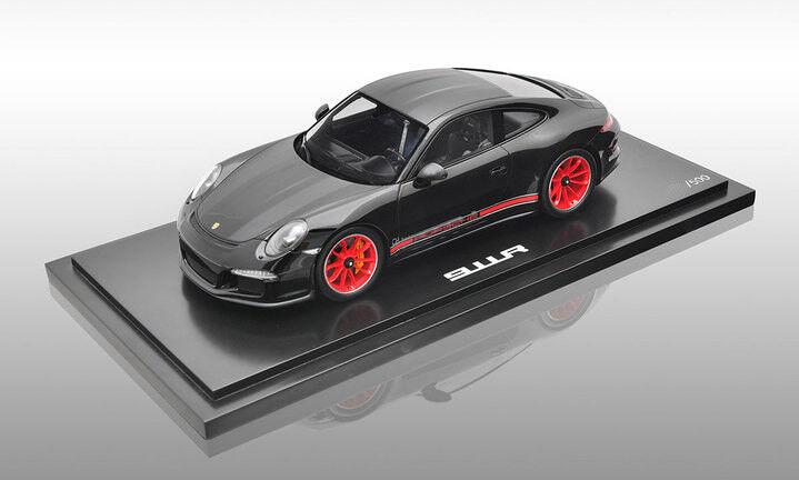 PORSCHE 991 911 R nero/rosso SPARK Ltd. 500 PC, wax02100027 1/18
