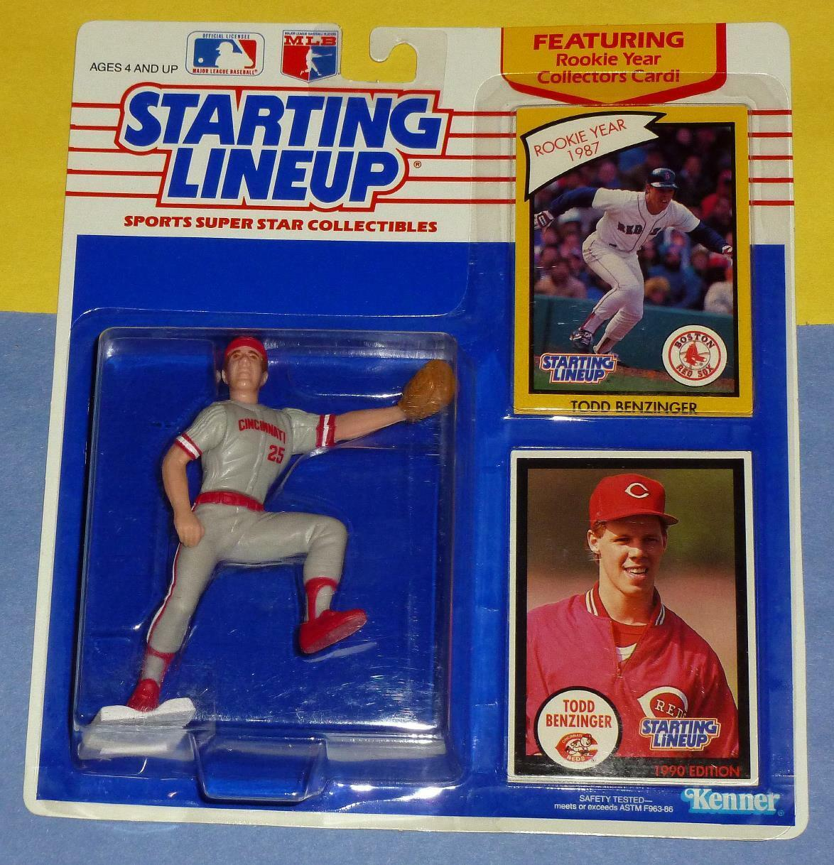 1990 TODD BENZINGER Cincinnati Reds Rookie NM+  sole Starting Lineup & 1988 card