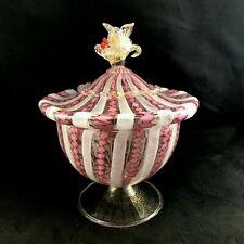 Vintage Barovier /& Toso Murano Venetian Glass Mortar And Pestle Set ChristmasPresentHousewarming