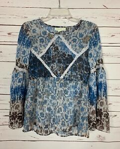 Staring at Stars Urban Outfitters Women's XS Extra Small Blue Spring Top Blouse
