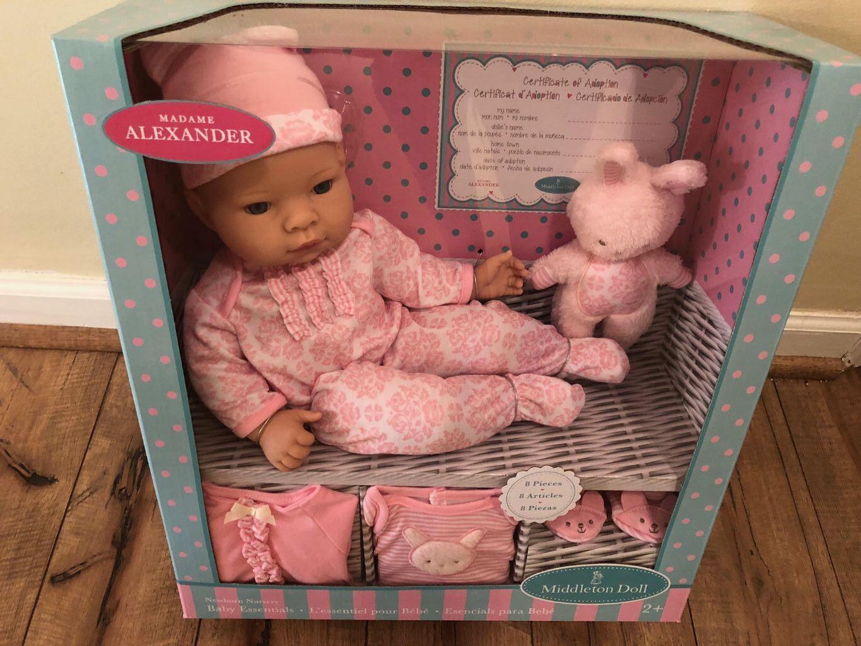 16  muñeca Middleton Bebé Niña Recién Nacido-Conjunto de vivero Layette nueva Madame Alexander