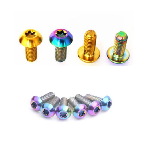 6PC Titanium Half-Round Head M5 x 12//14//16mm Bolt Button Head Torx Screw