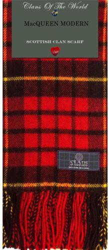 MacQueen Modern Tartan Clan Scarf 100/% Soft Lambswool