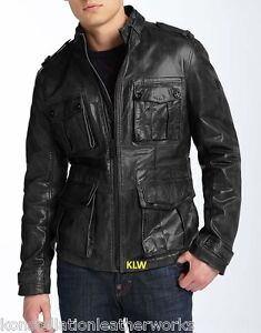 Leather-Jacket-New-Trendy-Military-Style-Lambskin-Leather-Coat-Men-EHS-M-40