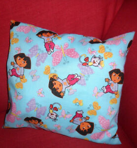 DORA THE EXPLORER Child/'s//Girls Personalised Character Cushion Cover GIFT IDEA