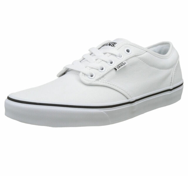 VANS Mens Atwood Low Top Lace up Canvas Shoes White 7 b0e3cf618