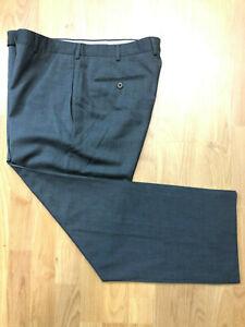Ermenegildo-Zegna-Dark-Gray-100-Wool-Flat-Front-Mens-Dress-Pants-Sz-34x28