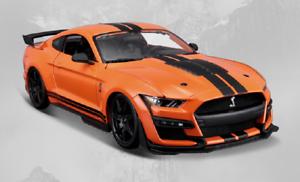 Maisto-1-18-2020-Ford-Mustang-Shelby-GT500-Diecast-Modelo-Coche-de-Carreras-Naranja-En-Caja