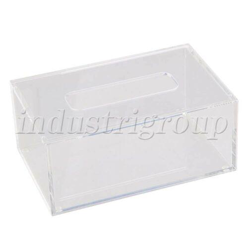 Acrylic Rectangular Tissue Box Case Cover Holder Transparent 196x125x84mm