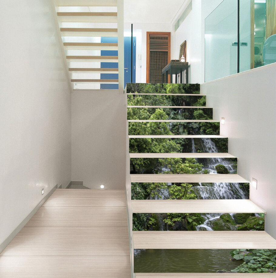 3D A lot of trees 9 Stair Risers Decoration Photo Mural Vinyl Decal Wallpaper AU