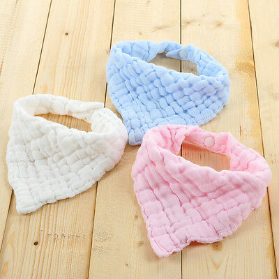 Infant Baby Kids Cotton Feeding Saliva Towel Dribble Square-Bandana Bib-Eyeful B