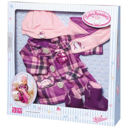 Baby Annabell Deluxe Cappotto Vestito per bambole bambino 43cm