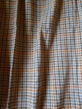 Country Tweed Fabric 100/% Pure Wool by the metre Blue Plaid Check Ref 1818//73