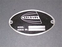 Vintage Ercoupe Dea Required aircraft Identification Data Plate Stainless