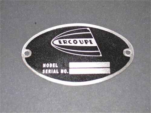 """Vintage Ercoupe DEA Required /""""Aircraft Identification Data Plate/"""" Stainless"""
