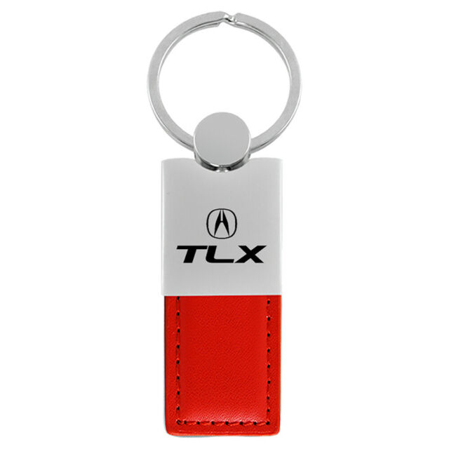 Acura TLX Keychain & Keyring - Duo Premium Red Leather