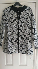 Womens Vintage Daroma Black /Silver Jacket,Black lining back zip, chest 40 inchs