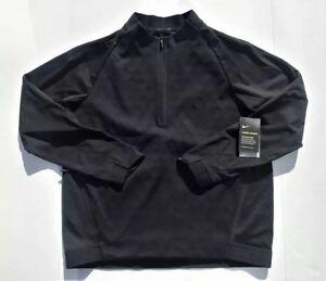 Activewear Nike Therma Sphere Dri-fit Repel 860517-010 Black Half 1/2 Zip Jacket Men's Xl Bright Luster Activewear Jackets