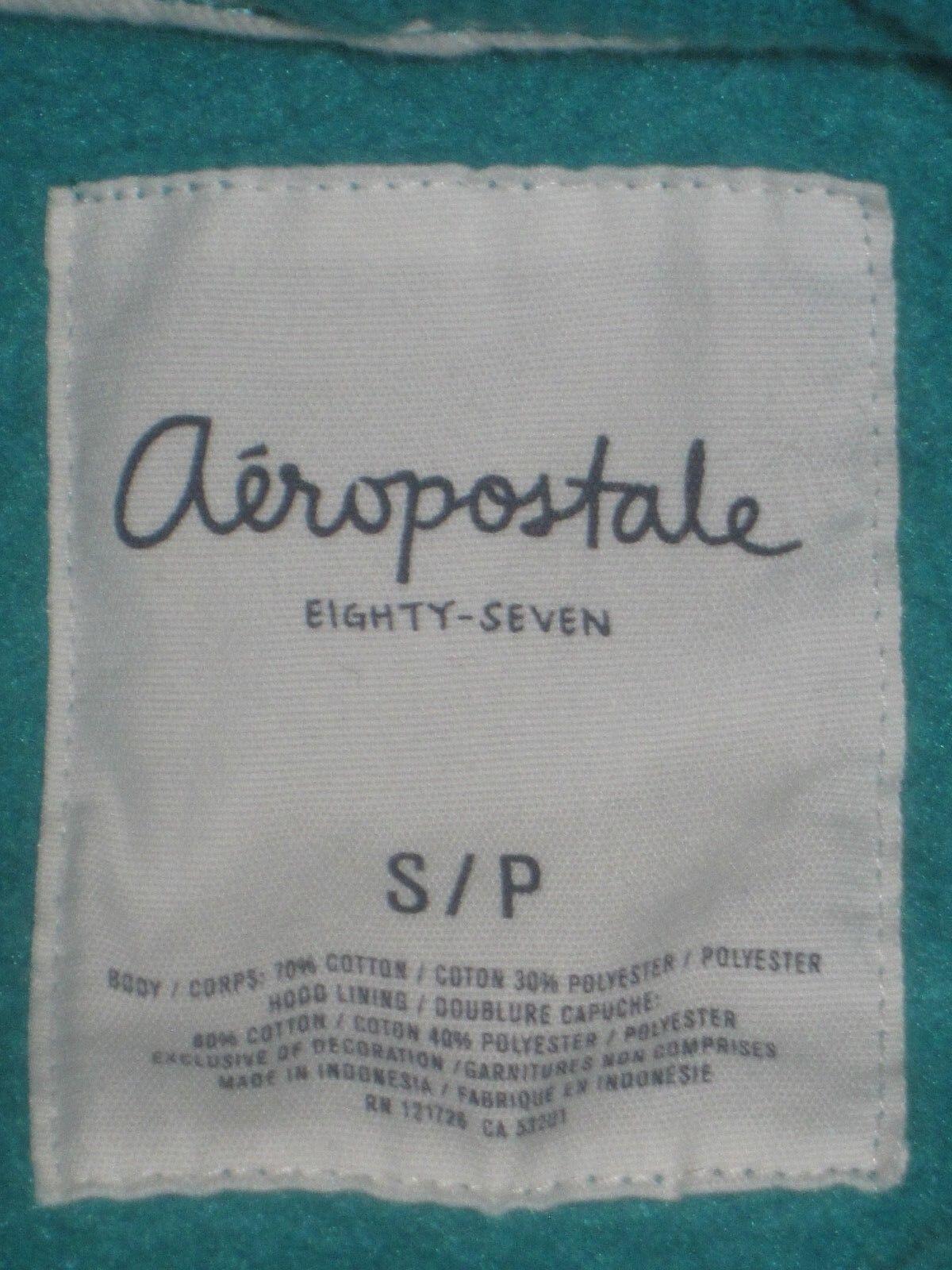 Aeropostale Hoodie Hoodie Hoodie Women Teal gold White Green bluee Sweater Size S P 76eaf4