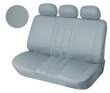 Leather Like Rear Seat Cover Zip Type For 60/40 Full Split Gray