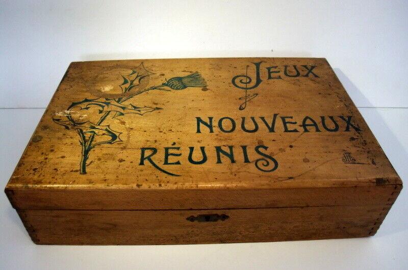 Ancienne mallette  Jeux Nouveaux Réunis  avec 14 jeux de casse-tête plus autres