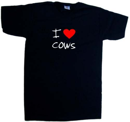 I Love Heart Cows V-Neck T-Shirt