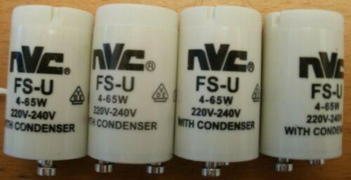 S3A 4 x NVC STARTER FOR FLUORESCENT LIGHTING 4-65w FS-U