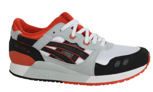 Asics Gel-Lyte 3 Lace Up White Black Synthetic Junior Trainers C5A4N 0190 D135