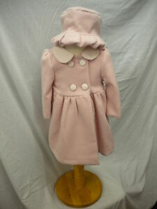 Outerwear Abella Traditional Winter Coat & Hat Pink/cream Lined Age 6-12mth Or 12-18mth